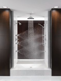 would love an open walk in shower like this one day.
