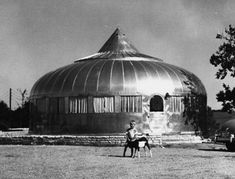Dymaxion House, Buckminster Fuller, 1945 // factory-manufactured kits assembled on-site