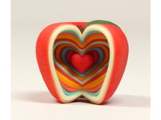 3D Printed Valentine's Day. Growing Heart Apple by HiLobster http://shpws.me/opU1