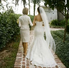 shot of bride and the mother of the bride :-) mom! Look at what she is wearing! @marcia hartt