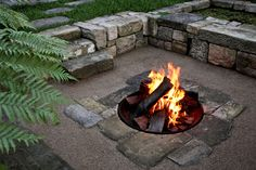 great firepit and seating area