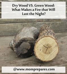 The dry wood on the left burns quickly, while the green wood on the right burns slower. Image by Aprille Ross