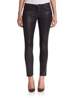 AG The Leatherette Legging Ankle Jeans. #ag #cloth #jeans