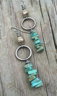 Silver and Turquoise Earrings, Turquoise Jewelry