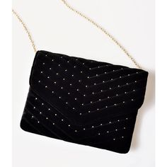 Vintage Style Black Velvet Envelope Clutch (125 RON) ❤ liked on Polyvore featuring bags, handbags, clutches, multicolor, velvet clutches, multi color purse, long purse, multi colored handbags and multi color handbag