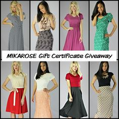 MIKAROSE Gift Certificate Giveaway! 1. Repin this image 2. Comment what your FAVORITE thing about MIKAROSE is.  Ends Monday 9 AM MST. Winner will be announced via the Blog (www.mikarose.com/blog) Winner will receive a $50 gift certificate from MIKAROSE via email that can be used ONLINE! :) (ONE ENTRY PER PERSON)