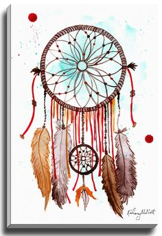 Autumn Dream Catcher by Kelsey McNatt Painting Print on Gallery Wrapped Canvas