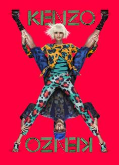 Ming Xi & Jester White for KENZO SS 2013 Campaign by Jean-Paul Goude - Fashion Copious