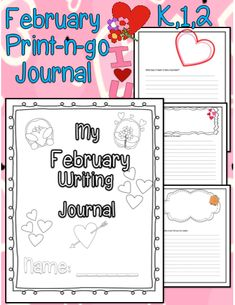 This Super Cute Writing Journal comes with perfect writing prompts for the month of February!  #freeprintables #TeacherSherpa