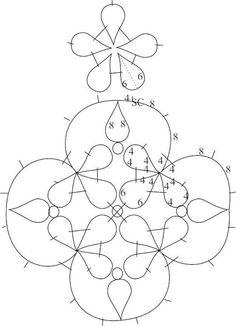 Pendant tatting pattern.