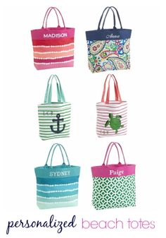 Great Gift Idea {Personalized Beach Totes on Sale}