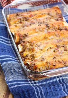 Sloppy Joe Enchilada Recipe  Easy Make Ahead Dinner  Party Food