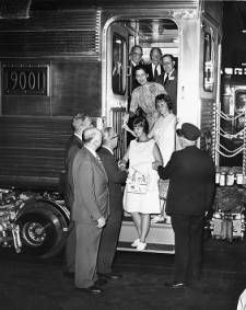 First air conditioned cars on Reading Railroad :: George D. McDowell Philadelphia Evening Bulletin Photographs