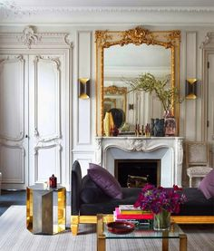 Parisian style of decorating - what's not to love. It has both glamorous and classic details, that one can only imagine as style elements in your dream home.