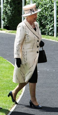 HRH Queen Elizabeth II arrives in the parade ring for the first day of Royal Ascot on June 17, 2008 in Ascot, England.
