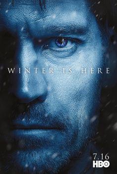 Game of Thrones season 7 character poster of Jaime Lannister (Nikolaj Coster Waldau) Game Of Thrones Besetzung, Game Of Thrones Saison, Game Of Thrones Winter, Batwoman, Jamie Lannister, Game Of Throne Poster, Robert Pattinson, Serie Got, Hbo Tv Series