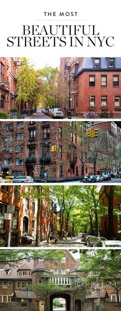 When you've had it up to here with the lines at Trader Joe's and Times Square, take a second to gaze at the tree-lined streets, breathtaking views and hidden private paths this beautiful city has to offer. Here are the nine most gorgeous streets in NYC. #nyc