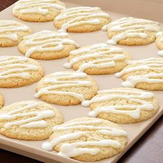 Lemon-Glazed Sugar Cookies - The Pampered Chef® Fun Cookies, Holiday Cookies, Sugar Cookies, Lemon Cookies, Pampered Chef Recipes, Gourmet Recipes, Cookie Recipes, Top Dessert Recipe, Dessert Recipes