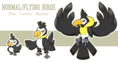 Normal/Flying Birds por lukeacioli [Fakemons: post #1]