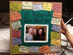 diy best friend birthday gift ideas | Birthday gift for best friend! #bulletinboard #gift #best #friend