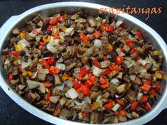 ora, pitangas!!!: caponata de berinjela do nick Ratatouille, Chili, Food And Drink, Appetizers, Soup, Pasta, Ethnic Recipes, Blog, Veg Recipes