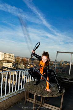 "Model: Milla Vie    Title: ""KinkyBabe Strikes Back""    Photographer: Patrick Ceuppens (kinkystyle)    #Latex"