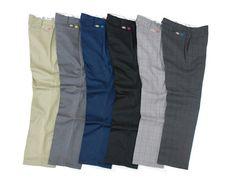Work pants (esim. Dickies)  Musta, Navy, Harmaa, Tumman ruskea