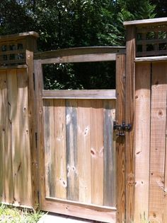 gate idea-maybe use the square trellis in the gap, or the marble-in-the-plywood idea