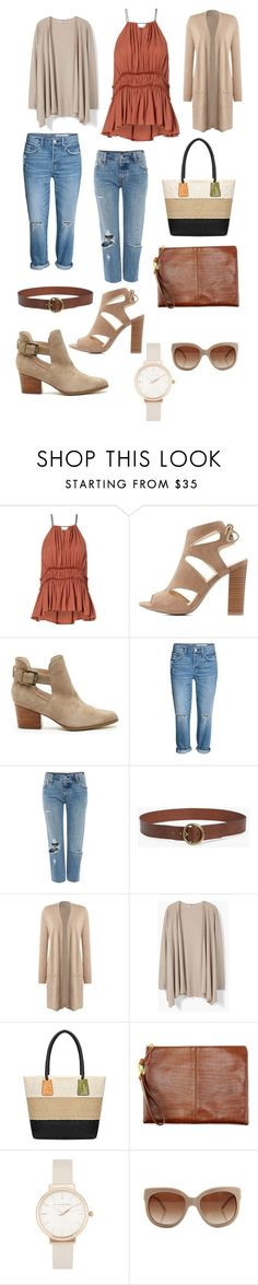 """taupe"" by classykate on Polyvore featuring Charlotte Russe, Sole Society, Levi's, 7 For All Mankind, MANGO, Olivia Burton and STELLA McCARTNEY"