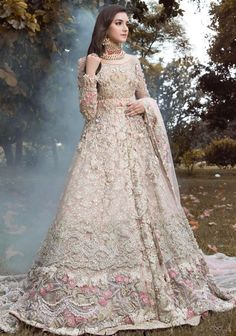 Sania Maskatiya Wedding & Bridal Dresses for Mehndi Barat and Walima Pearl Carnation, revels in a soft feminine look with delicate swarovski crystals, pearls and lighter hues of blush pink for a bewitching and luminous aura that every brides dreams about. Walima Dress, Shadi Dresses, Pakistani Formal Dresses, Pakistani Wedding Outfits, Indian Bridal Outfits, Pakistani Wedding Dresses, Pakistani Gowns, Asian Bridal Dresses, Desi Wedding Dresses