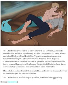 This is really interesting.The Little Mermaid is in actuality, the most profound love letter ever written.