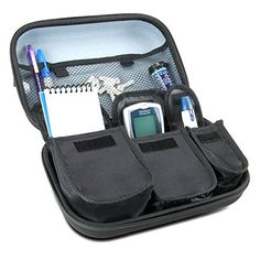 Diabetic Supplies Travel Case Organizer for Blood Glucose Monitoring Systems , Syringes , Pens , Insulin Vials and Lancets by USA Gear - for ACCU-CHEK Nano , Bayer Contour , TRUEtest and More Kits ** You can get more details by clicking on the image.
