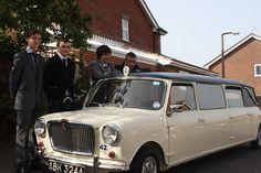 1963 stretched Mini limousine wedding car Ivory Paint, Limousine, Wedding Car, Navy Blue, Mini, Navy