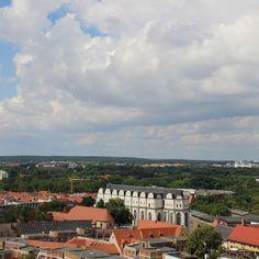 Über den Dächern von Halle - Blick auf den Dom