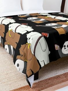 'We Bare Bears' Comforter by plushism Girls Bedroom, Bedroom Decor, Cool Paper Crafts, We Bear, Bear Pictures, We Bare Bears, Room Accessories, My New Room, Dorm Room