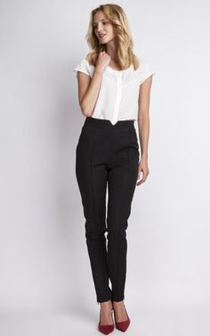Black High Waisted Trousers Product photo