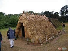 The rebuilt Sunken House at West Stow Anglo-Saxon Village