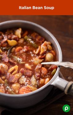 With hearty ingredients such as bacon, beans, and pasta, this Publix Aprons recipe for Italian Bean Soup adds a little spice to traditional comfort food.