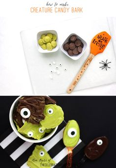 Creature Crunch Candy Bark Recipe for Halloween | Kim Byers, TheCelebrationShoppe.com