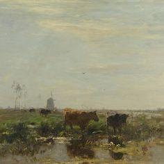 Weide met koeien aan het water, Willem Maris, 1895 - 1904 - Rijksmuseum