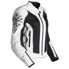 Scorpion ExoWear Nip Tuck Off White Medium Women's Motorcycle Jacket : Amazon.com : Automotive