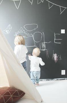 Chalkboard art wall.