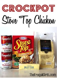Crockpot Stove Top Chicken Recipe! ~ from TheFrugalGirls.com ~ you're going to love this yummy comfort-food crockpot meal! #slowcooker #recipes