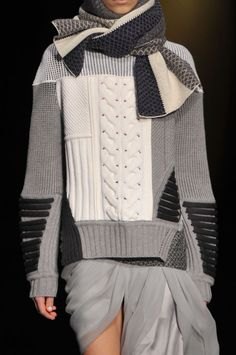 Prabal Gurung Fall 2014 - Details - maybe upcycle some old sweaters...