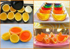 Gelatin in orange peels