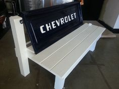 Retro Chevy Stepside Tailgate Bench by RustRevival on Etsy