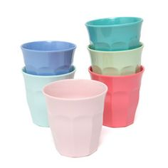 Melamine Cups . Set Of 6 - Stay Outstanding