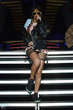 Rih Rih in some yeezy's!