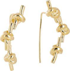 Jennifer Fisher Triple Knot Earrings in Gold