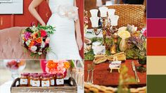 7 Hot Fall Wedding Trends To Steal Right Now | Photo by: Photos Clockwise From Left:  Lola Elise Photography // Eclectic Images // Lola Elise Photography | TheKnot.com